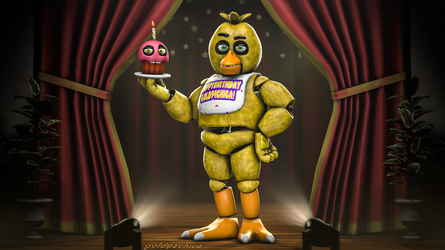 The Sassy Pizza Chicken (4K Chica Model Showcase) by gold94chica