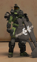 Spartan armor / Shield [Halo Reach] by TheMachinifilms