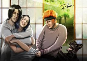 Itachi, Pain,Misty commission by RamaChan