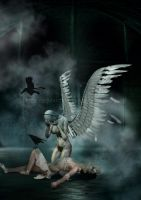 Angel of salvation by LCRuss