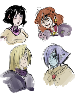 Slayers sketches by Leon9606