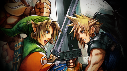 Link vs. Cloud Wallpaper by Jxudo