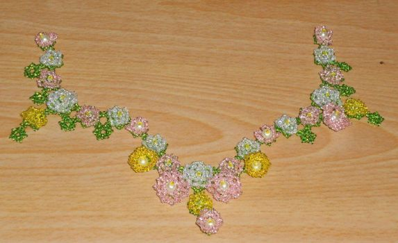 Flower Fairy Necklace WIP by Mousethful