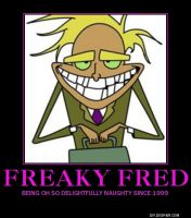 Freaky Fred Demotivational by lightyearpig