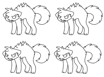 Free Angry Cat Line Art by Wreaux