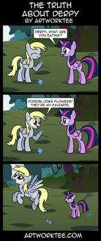 The Truth About Derpy by artwork-tee