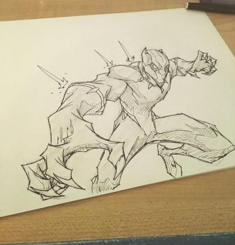 black panther sketch by Anny-D
