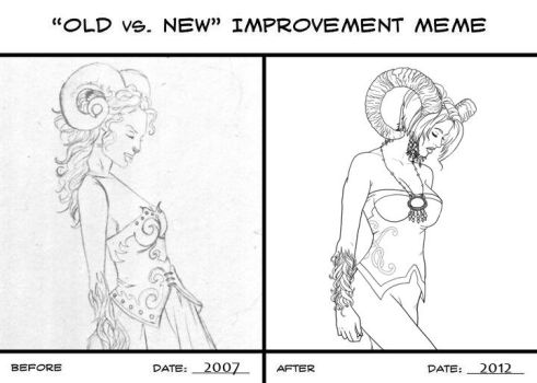Old vs. New -Ram Woman by Ederoi