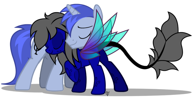 Midnight Rain and Aeon of Dreams Commission by Lightning-Bliss