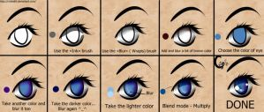 How to draw anime eyes (SAI). by CrisK-Art