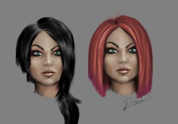 Face sketch prac by thadeemon