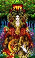 Queen of Pentacles - Revised by Elric2012