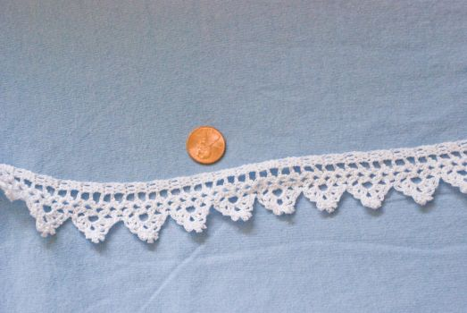 Crochet lace strip 1 WIP by kalany