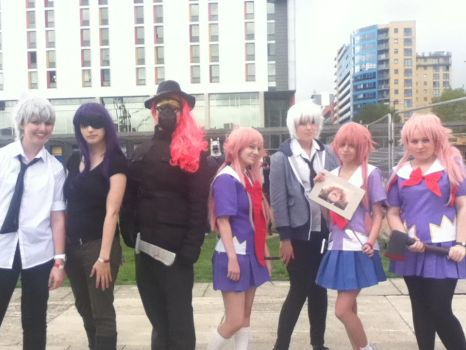 McM Expo October 2013 Mirai Nikki meet up by AnimeBomb