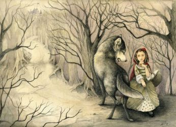 french red riding hood by rose-colligan