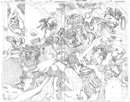 JLA 80 Page Giant - Pages 2-3 by MahmudAsrar