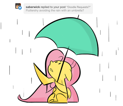 Rainy Day Doodle Request by FluttershytheKind