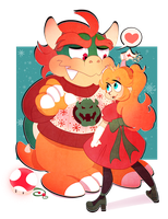 Have a Peachy Christmas by Pharaoh-Ink