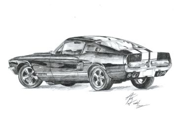 Ford mustang GT500 by AgataHandzel