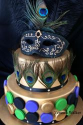 Peacock Cake close-up by Verusca