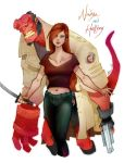 Nadya and Hellboy by Arioanindito