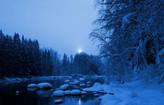 the river is silent by KariLiimatainen