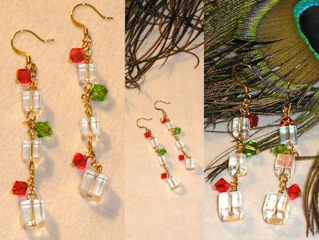 Christmas Crystal Earrings by Healersmoon