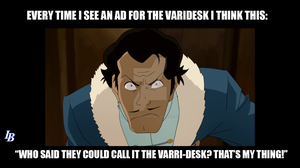 Varrick on the Varidesk by lawrencebrenner
