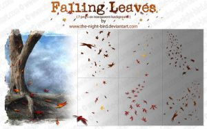 Falling Leaves PNG's by the-night-bird
