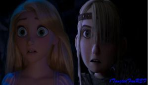 Astrid and Rapunzel by x12Rapunzelx