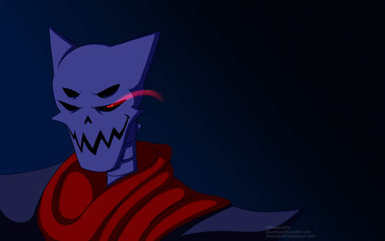 Underdarkness Papyrus Evil Stare Wallpaper 1920res by Bluerose09