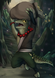 Sart the loot goblind (Lizardfolk) by FluffyWolfPaw