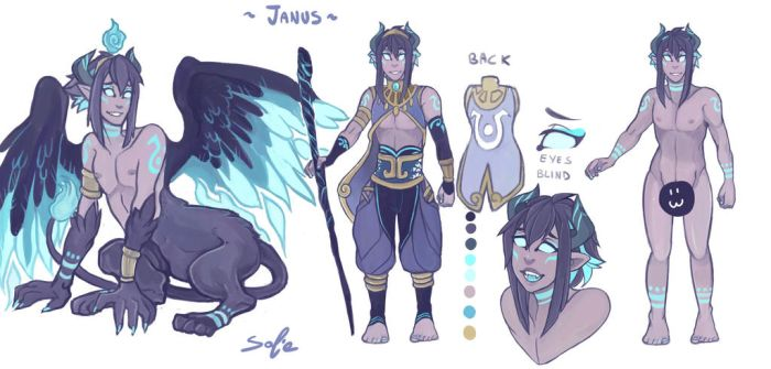 Janus The Demon Sphinx - Ref by sofia-1989