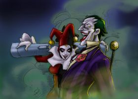 Match made in...Arkham_color by drvce