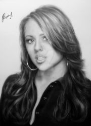 Kimberley Walsh Portrait by Life-Is-Art-88