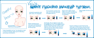 halfassed makeup tutorial :'D by valokilljoy