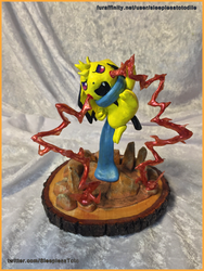 Muro the Pichu Sculpture Commission by SleeplessTotodile
