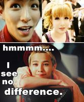 Jiyong sees no difference~ xD by Vespa-kid