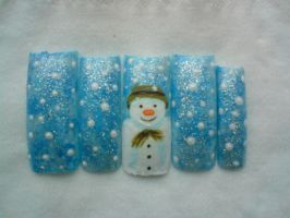 The Snowman Nail Art by Decembergirl2011