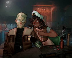 [FALLOUT] Beer and Whiskey by SatiricalKat