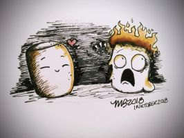 InkTober 2018 - Day 3 (Roasted) by InstantDoodles13