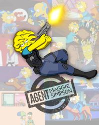 Agent Maggie Simpson by Needham-Comics