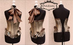 Re-styled Steampunk Corsage by Pinkabsinthe