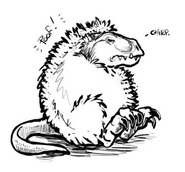 T-Rex Goes Poof by ursulav