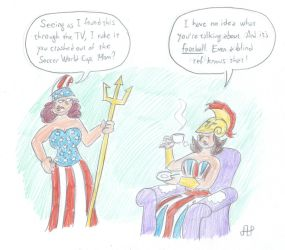 Britannia and Columbia: The World Cup by EmperorNortonII