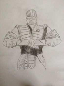 Sub-Zero Drawing by BlizzardtheRouge