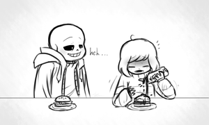 ''Date'' at Grillby's by Luziland2