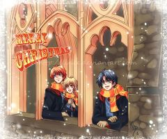 Christmas card HP by lince
