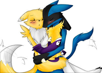 Request Of guardianstriker (Lucario x Renamon) by Ana-Vanexitax