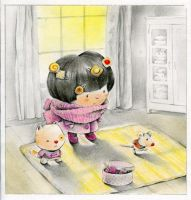 Tiny Cake and Kitty and Little mouse by ironland